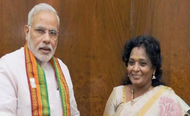 Telangana Governor Tamilisai Soundararajan Meeting With PM Modi In Delhi - Sakshi