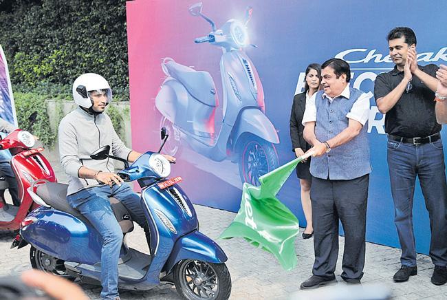 Bajaj Chetak electric scooter launch - Sakshi