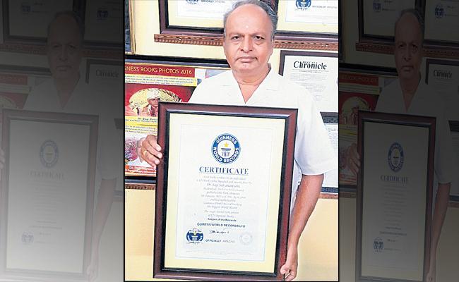 Telugu Doctor Sagi Satyanarayana Set Three Guinness World Records - Sakshi