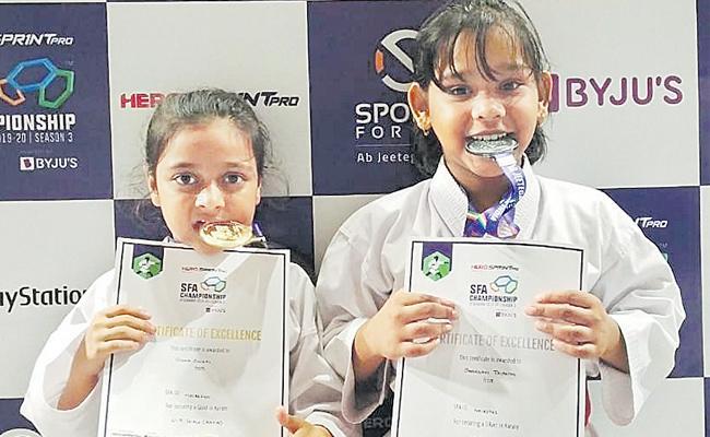 Disha And Ali Mohammad Got Gold Medals - Sakshi