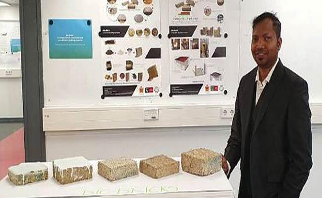 PHD Scholars Developed BIO Bricks From Agricultural Waste Products - Sakshi
