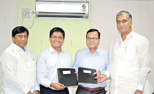 Government Of Telangana Signs MOU With CEGIS - Sakshi