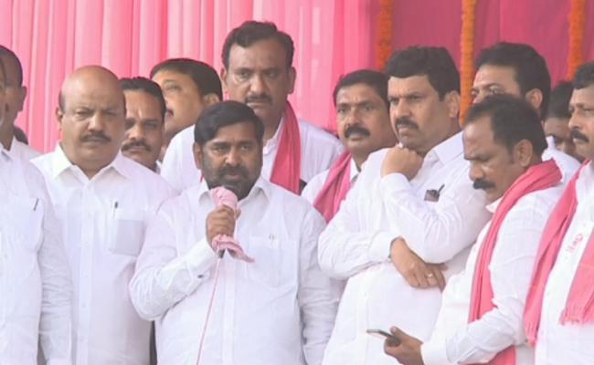 Jagadish Reddy Arrange Meeting In Huzurnagar Over Cancel Of CM Sabha - Sakshi