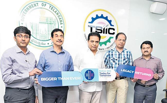 Minister KTR Launches Bio Asia Conference Theme - Sakshi