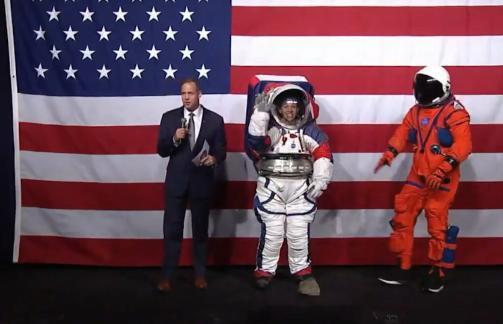 Nasa unveils new spacesuit for next Moon landing - Sakshi