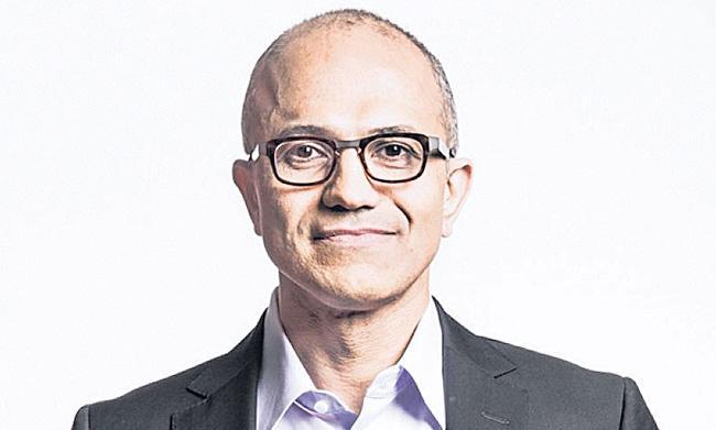 Microsoft CEO Satya Nadella got 66persant salary hike - Sakshi