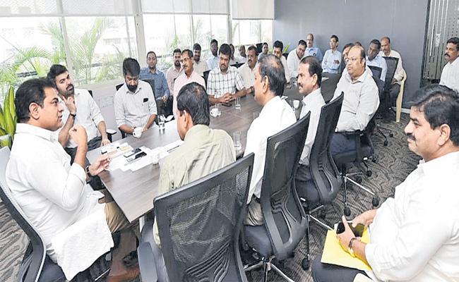 Minister KTR Meeting With Real Estate Representatives - Sakshi