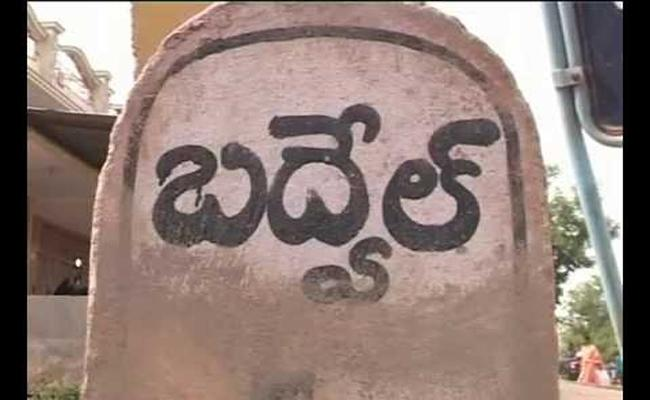 Altercation Between Police and BJP Leaders in Badwelu - Sakshi