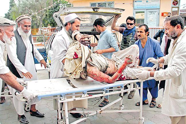 Mosque bombing kills 62 people in eastern Afghanistan - Sakshi