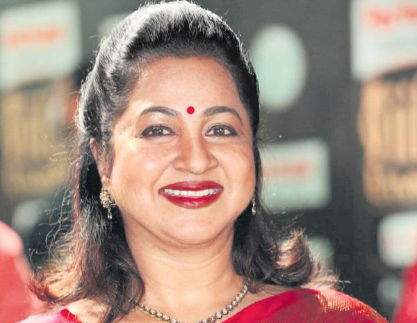 Radikaa Sarathkumar as the host of Kodeeswari - Sakshi