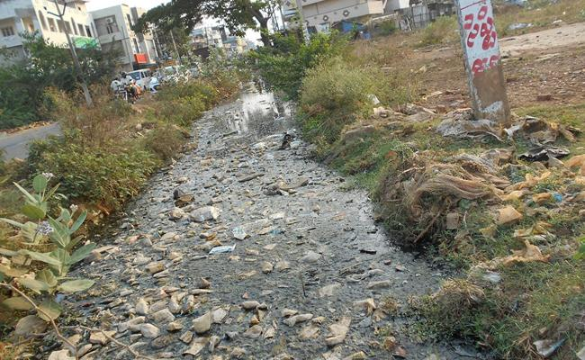 TDP Government Did Not Care About The Drainage System In The Villages - Sakshi