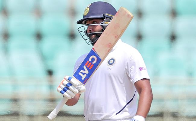 India Vs South Africa 1st Test Rohit Sharma Hits Fifty - Sakshi
