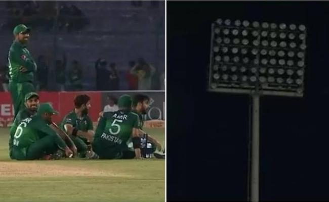 Pakistan Cricket Board Trolled For Floodlight Failure In Karachi Against Sri Lanka - Sakshi
