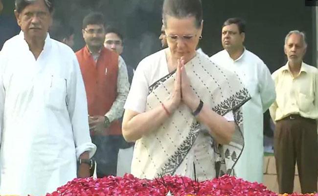 Sonia Gandhi Says Mahatma Soul Would Be Pained Dig At Modi Govt - Sakshi