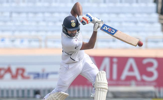 Rohit Sharma Falls After Hitting Maiden Test Double Ton - Sakshi