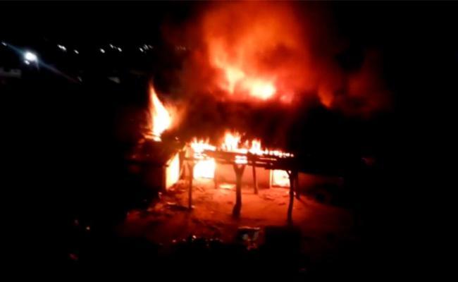 Wife Suicide Case Relatives Fires Husband House In Nizamabad - Sakshi
