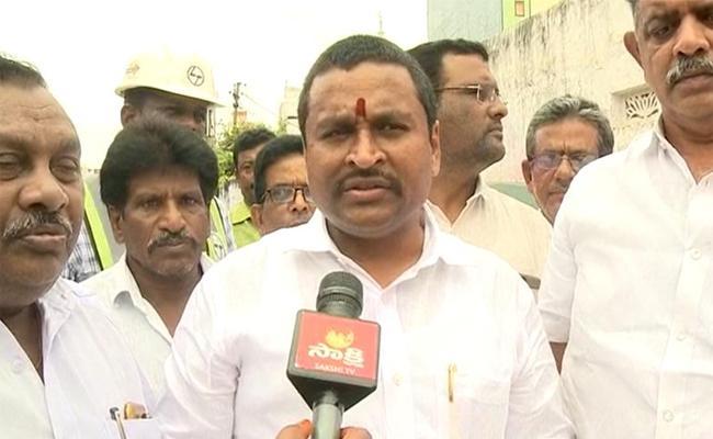 Avanthi Srinivas Started Developement Works In vijayawada - Sakshi