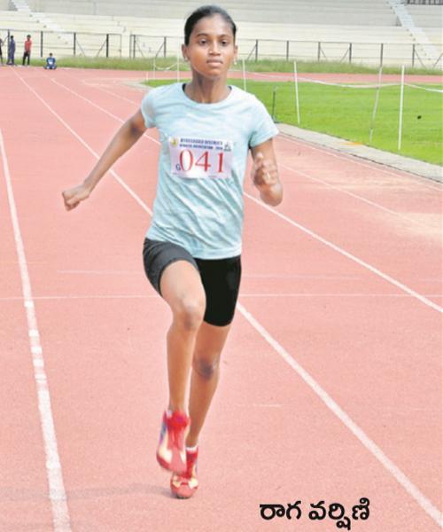 Raga Varshini Got Two Gold Medals In Athletics Championship - Sakshi