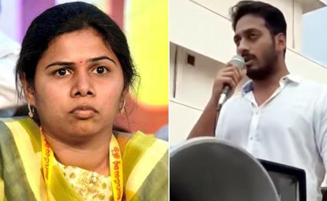 Bhuma Akhila Priya Husband Obstructing AP Police - Sakshi