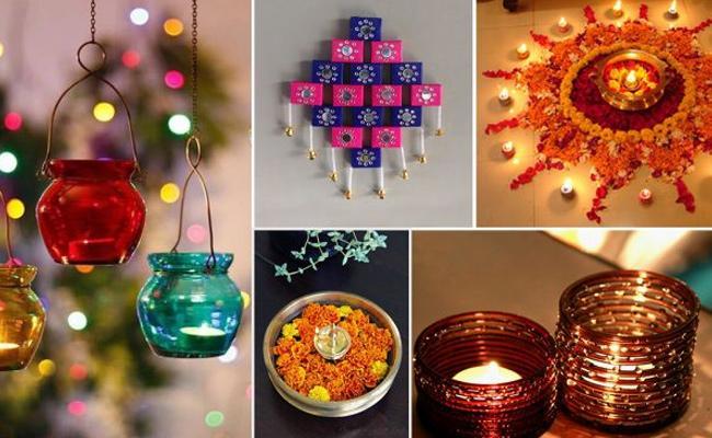 Diwali Lights Decoration With Imitation Jewellery - Sakshi