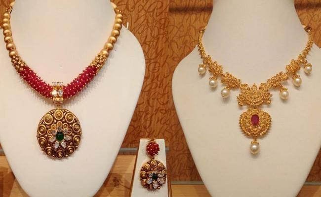 Diwali Celebration Jewelry Looks Trendy - Sakshi