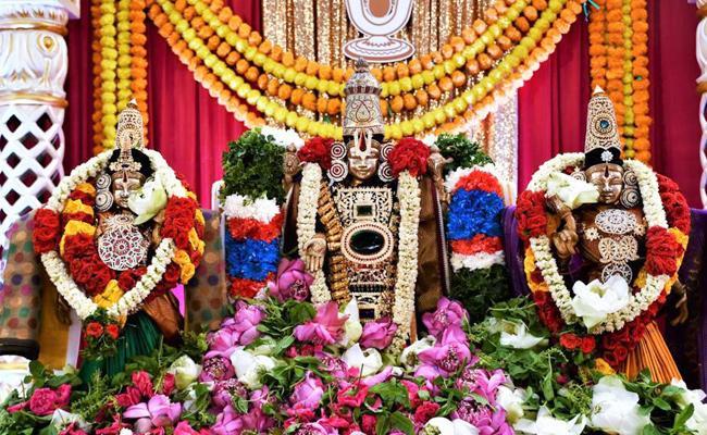 TTD Singapore Telugu Samajam conducts Srinivasa Kalyanam in Singapore - Sakshi