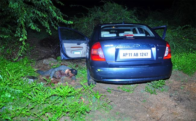 Brutal Murder of a Man in Nagaram Village - Sakshi