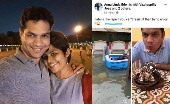 MP Hibi Eden Wife Posts Worst Rape Joke On Facebook - Sakshi