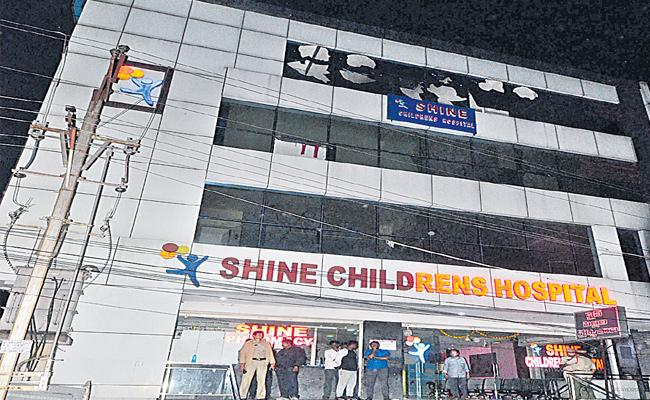 Short Circuit Shine Childrens Hospital Seized LB Nagar In hyderabad - Sakshi