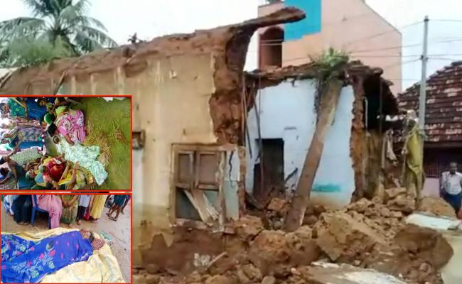 Two Men killed Due To Wall Collapse In West Godavari - Sakshi