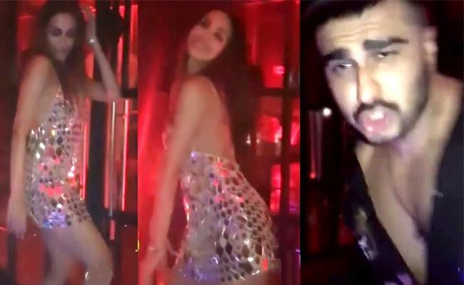Malaika Arora, Arjun Kapoor dances in Birth day Party - Sakshi