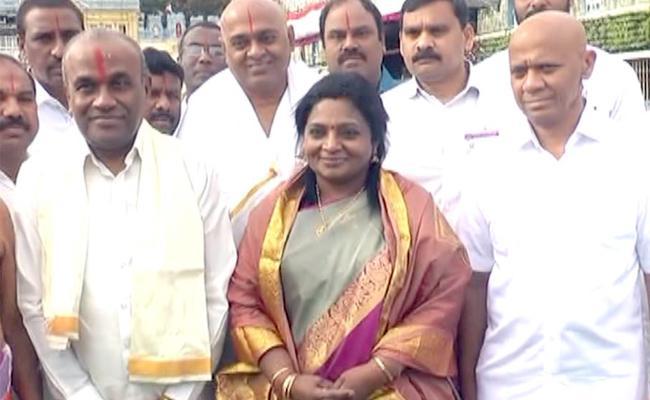 Telangana Governor Tamilisai Soundararajan Visits Tirumala - Sakshi