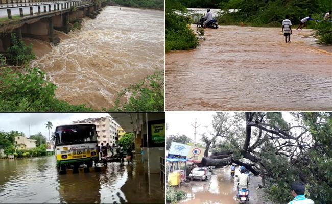 Incessant Rains In Andhra Pradesh: Raised Transport Problem - Sakshi
