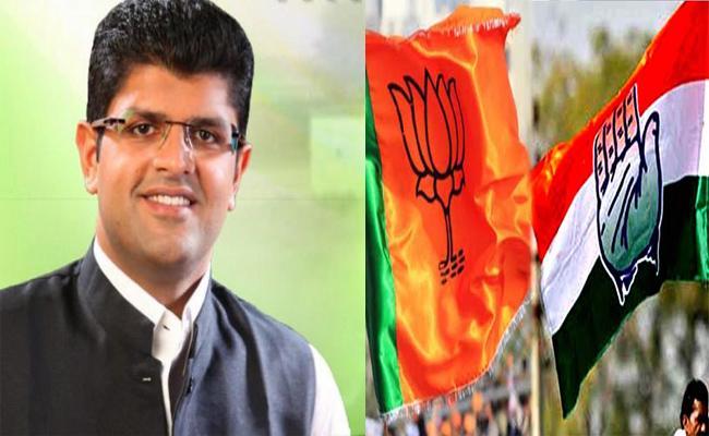 Whom Will JJP Support In Haryana - Sakshi