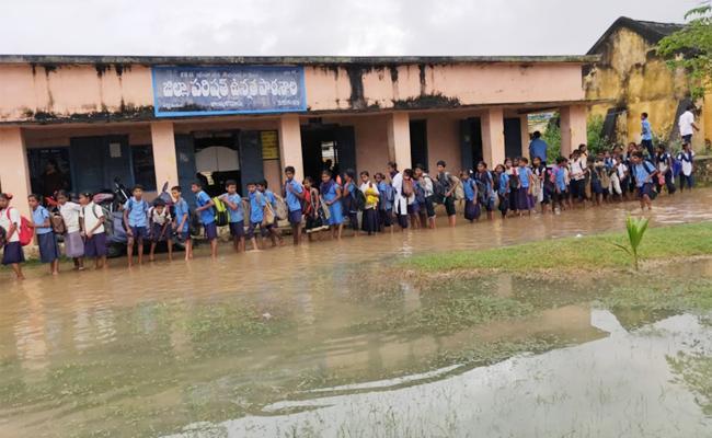 Heavy Rains in Srikakulam - Sakshi