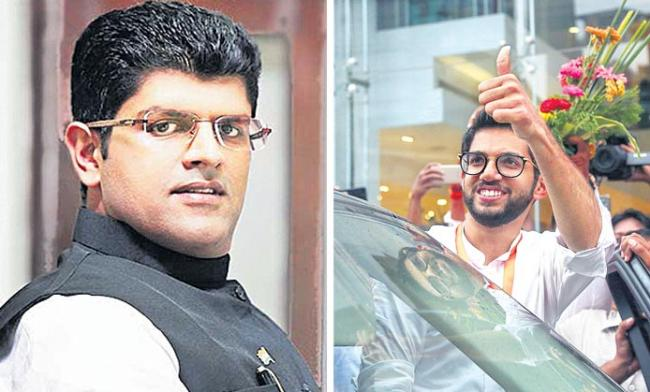 dushyant chautala, aditya thackeray wins in assembly elections - Sakshi