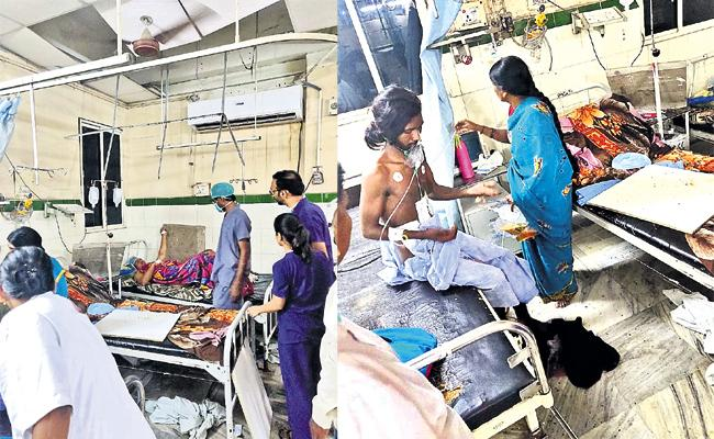 Ceiling Fan Collapse in Osmania Hospital Hyderabad - Sakshi