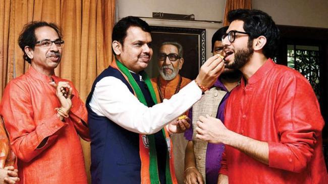 Maharashtra Chief Minister post: Chorus For BJP, Shiv Sena  - Sakshi