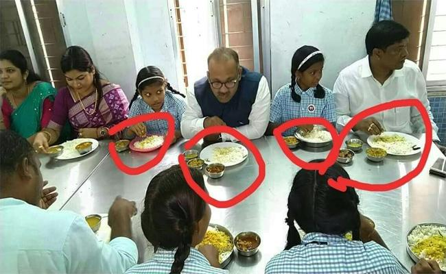 Odisha Leaders Dinner With Students With Chicken - Sakshi