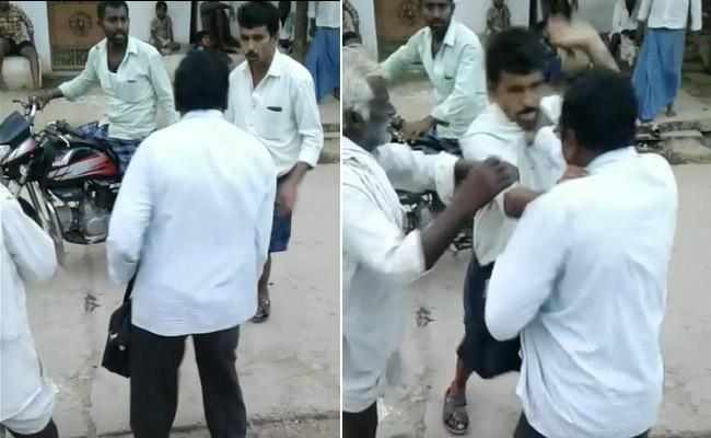 TDP Activist Who Indiscriminately Attacked VRO - Sakshi