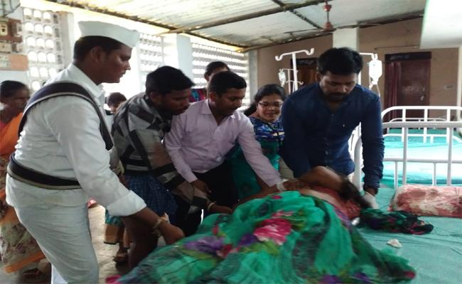 Guduru Sub Collector Who Hospitalized Woman Seriously Injured In Road Accident - Sakshi