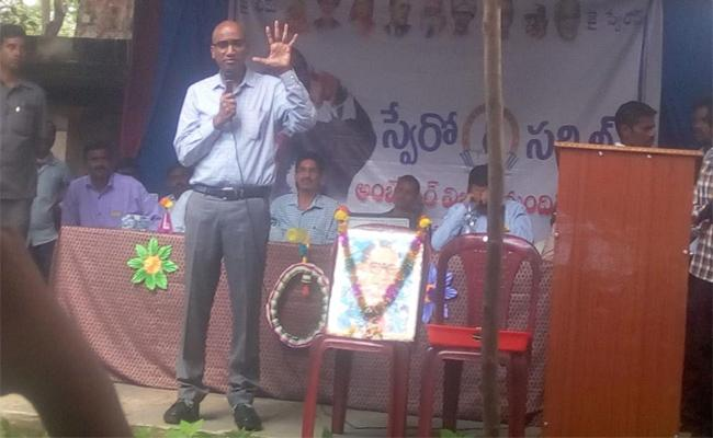 RS Praveen Kumar Aroused the Thought of the Students With his Speech - Sakshi