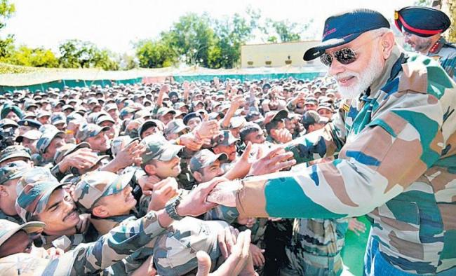 PM Narendra Modi briefs EU panel ahead of their Kashmir visit - Sakshi