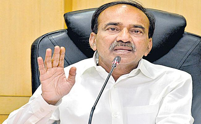 Etela Rajender Speaks Over KCR Kit Global online Tendering - Sakshi