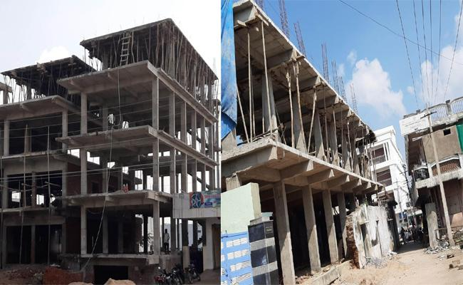 Illegal Constructions In Medipally - Sakshi