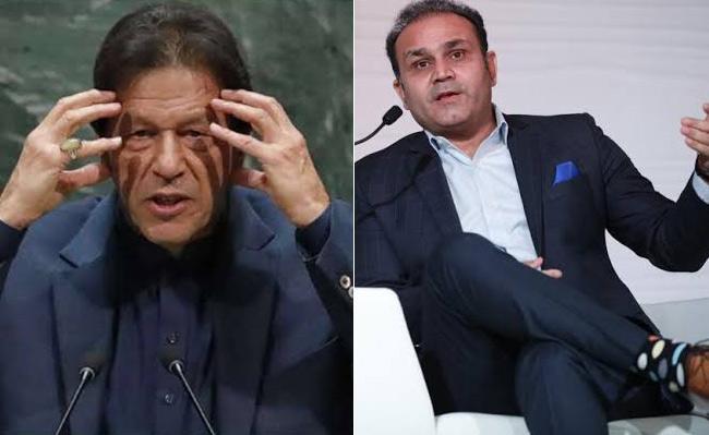 Virender Sehwag Tweet on Pakistan PM Imran Khan - Sakshi