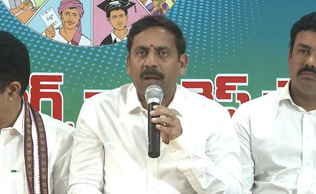 Visakha West Kanvinor Malla Vijay Prasad Slams On Chandrababu Over His False Statement - Sakshi