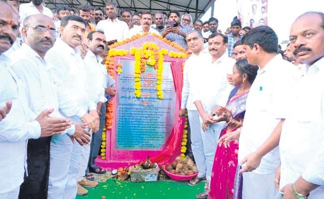 Harish Rao Speech About Haldi Vagu Check Dam In Siddipet - Sakshi