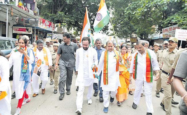 Kishan Reddy Launches Gandhi Sankalp Yatra - Sakshi