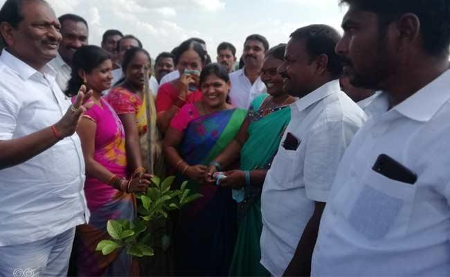 Koppula Eshwar Speech In Dharmapuri Over Haritha Haram - Sakshi